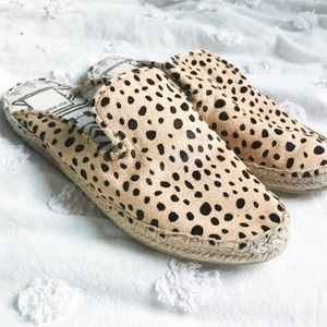 Dolce Vita Baz Espadrille Mules Cheetah Leopard 6